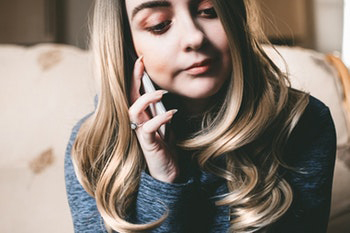 Girl calling on a data-less phone.