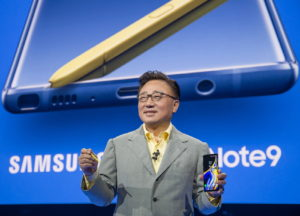 Samsung recently released the Galaxy Note 9. Source: Samsung.