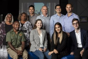 A photo of the Indigineous STEM award winners