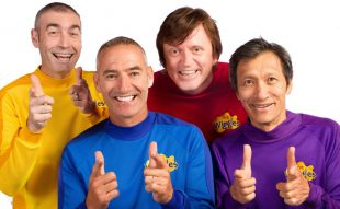 Image of The Wiggles band smiling